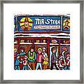 Mr Steer Restaurant Montreal Framed Print