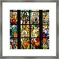 Mucha Window St Vitus Cathedral Prague Framed Print by Matthias Hauser