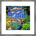 Multnomah Falls Oregon Framed Print