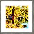My Golden Tree Framed Print