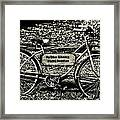 My Other Bike Is A Harley Davidson In Sepia Framed Print