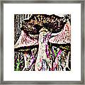 Mystic Mushrooms Framed Print by Corrie Knerr