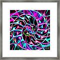 Nautilus Shell Ying And Yang - Electric - V2 - Violet Framed Print