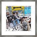 Nepali Labourers At Devraprayag Framed Print