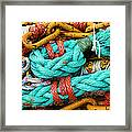 Nets And Knots Number Four Framed Print by Elena Nosyreva