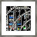 New York Abstract 1 Framed Print