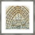 Notre Dame Cathedral Center Entry Framed Print