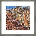 Oak Creek Canyon Framed Print