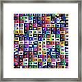 Off The Chart Framed Print