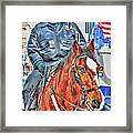Officer On Brown Horse Framed Print