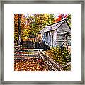 old mill Smoky Mountains Framed Print