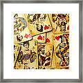 Old Playing Cards Framed Print