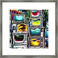 Old Tv's Abstract Framed Print