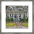 On Guard In New Orleans Painted Framed Print