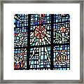 Orange Blue Stained Glass Window Framed Print by Thomas Woolworth