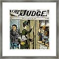 Out In The Cold. Illustration Framed Print