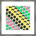 Overlayed Dots Framed Print