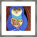 Owl And Owlettes Framed Print