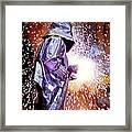 Oxy-acetylene Cutting Framed Print