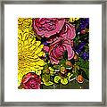 Painted Bouquet Framed Print