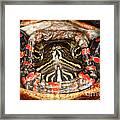 Painted Turtle Head Framed Print