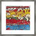Painting Peeling Wall Framed Print by Garry Gay