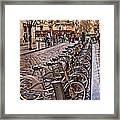 Paris Wheels For Rent Framed Print