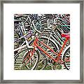 Parking Bicycles In Mako Framed Print