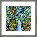 Peacock Party Framed Print