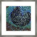 Peacock With Bling Framed Print