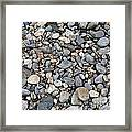 Pebble Beach Rocks, Maine Framed Print