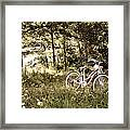 Pedaling To The Past Framed Print