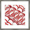 Peppermint Ribbon Candy Framed Print