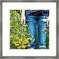 Picking Flowers Framed Print by Kim Fearheiley