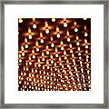 Picture Of Theater Marquee Lights Framed Print by Paul Velgos