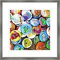 Pinback Buttons Framed Print by Jera Sky