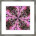 Pink And Purple Gemstones Jewelry Kaleidoscope Framed Print