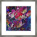 Pink Floral Abstract Framed Print