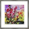 Pink Lavatera Framed Print