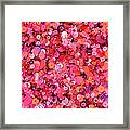 Pink Sequins Of Various Shapes And Sizes Framed Print