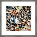 Pirates Preparing To Board A Victim Vessel  Framed Print by American School