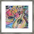 Play The Blues Framed Print