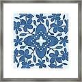 Plumeria Hawaiian Quilt Block Framed Print