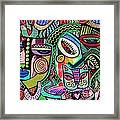 -plump Pink Aztec Kitty And Birds Framed Print