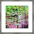 Pond In Purple Framed Print