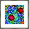 Pop Art Daisies 2 Framed Print