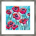 Poppy Sky Framed Print