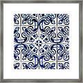 Portuguese Azulejo Framed Print