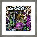 Positano Flower Shop Framed Print