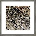 Printed Circuit Board, Computer Artwork Framed Print by Pasieka
